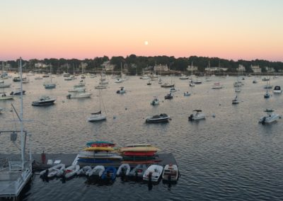 Moon over Marblehead Harbor