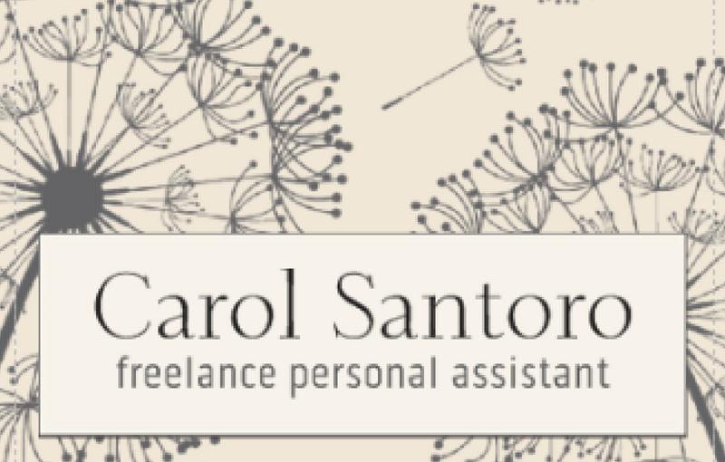 Carol Santoro Personal Assistant